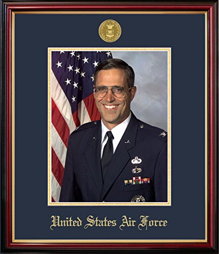 Campus Images AFPPT001 Air Force Portrait Petite Frame with Gold Medallion, 8
