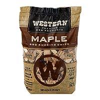 Western Premium BBQ Products Chips de fumar de arce, 180 pies cúbicos