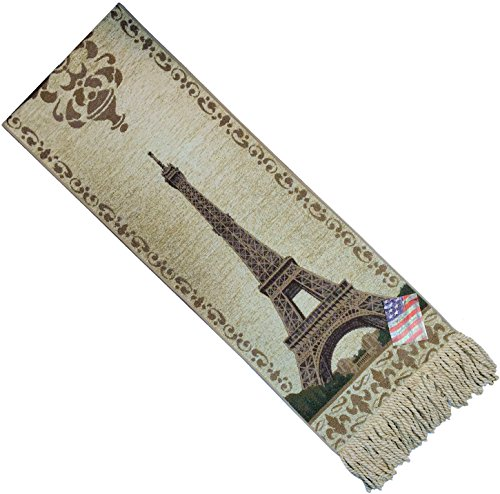 Heavy Fringe Edge Tapestry Tablerunner UET72 12.5x72