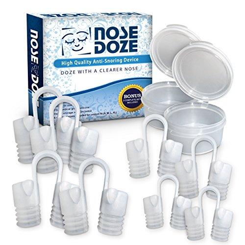 NoseDoze 2 jeux de 4 dilatateur nasal Premium nez évents Stop ronflement Device... Parfait prouvé empêcher ronflement Solution de facilité à respirer... Apnée du sommeil... TWIN PACK... 2 ensembles complets pour le prix d'un... 8 évents de nez dans toutes