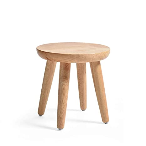 Terrific Amazon Com Qqxx Japanese Wooden Stool Simple Modern Solid Machost Co Dining Chair Design Ideas Machostcouk