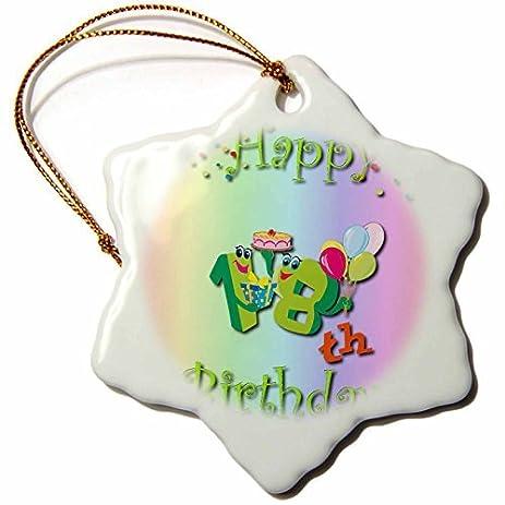 amazon com snowflake ornament happy 18th birthday party with