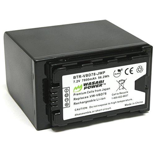 Wasabi Power 7800mAh Battery for Panasonic VW-VBD58, VW-VBD78, AG-VBR89G and Panasonic AG-3DA1, AG-AC8, AG-DVX200, AG-HPX250, AG-HPX255, AG-HVX201, AJ-PCS060, AJ-PX298, HC-MDH2, HC-X1000, HDC-Z10000