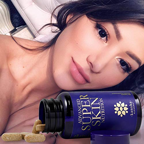5152AGHwYbL - Premium Collagen Peptides, Anti Aging, Anti Wrinkle for Revitalised Skin, Hair and Nails Vitamins, Includes Keratin Complex, Biotin, Hyaluronic Acid, Astaxanthin, and Vitamin C, 60 Tablets