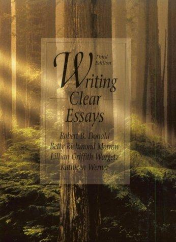 Writing Clear Essays (3rd Edition)