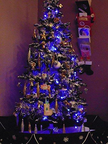 170cm Cascading Black Snow Christmas Tree: Amazon.co.uk: Kitchen & Home