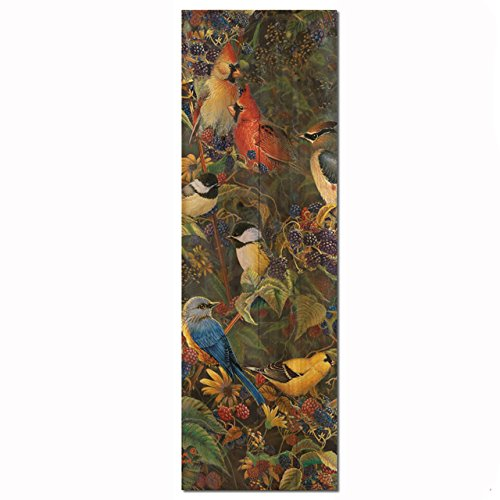 WGI-GALLERY WA-BBSB-824 Berry Bush Songbirds Wall Art