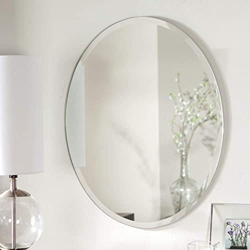 Decor Wonderland Odelia Oval Bevel Frameless Wall Mirror