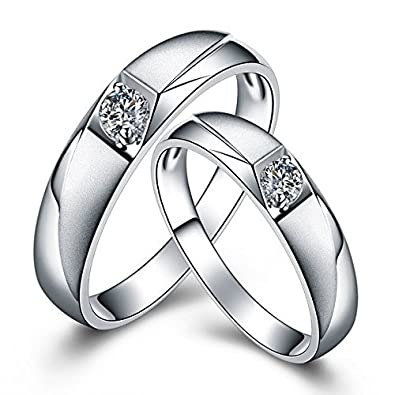 5b0d14d2ec062 RM Jewellers CZ 92.5 Sterling Silver American Diamond Loving Couple ...