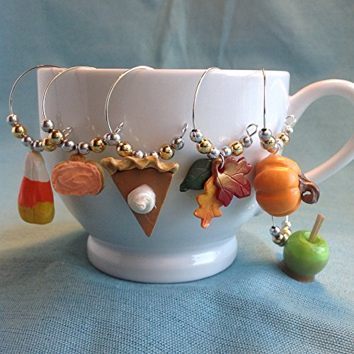 Glass Thanksgiving (Fall Wine Glass Charms)