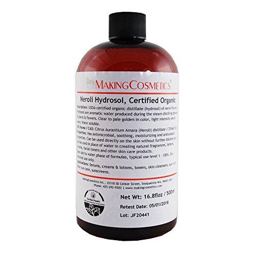 MakingCosmetics - Neroli Hydrosol, USDA Certified Organic - 4.2floz / 125ml - Cosmetic Ingredient