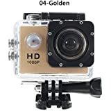 ZHUOTOP 1080P Waterproof Camera Universal Full HD Lot Car Cam Sports Action Camera Golden