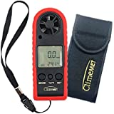 ClimeMET CM2030 Handheld Anemometer With Pocket Size Beaufort Scale Card and Carry Pouch