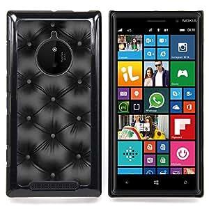 - Minimalist Black Diamond Leather/ Duro Snap en el tel????fono celular de la cubierta - Cao - For Nokia Lumia 830