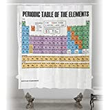Updated Periodic Table of Elements Chemical Scientific Chart Shower Curtain. Waterproof Fabric Soft and Odorless.
