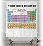Updated Periodic Table of Elements Shower Curtain. PVC Free, Odorless Non-Toxic Fabric.