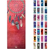 Soul Obsession Printed Yoga Mat, Prana Yoga Mat, Bikram Yoga Mat – Incredibly Comfortable Yoga Mats for Men and Women – Gorgeous Microfiber Printed Designs – Dream Catcher Feathers – Soul Catcher Review