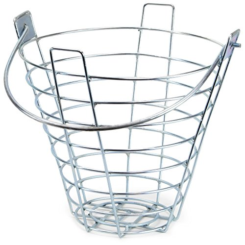 Steel Wire Golf Range Buckets: Metal Ball Carrying Practice Container with Handle - Holds 144 Balls by Crown Sporting Goods (Single)