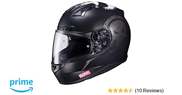 Amazon.com: HJC CL-17 Motorcycle Helmet Marvel Series The Punisher Black Large: Automotive