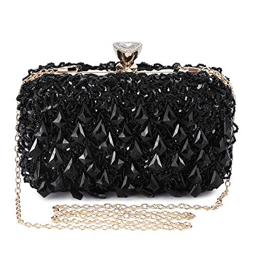 Clocolor Women Evening Bags and Clutches Crystal Clutch Beaded Rhinestone Purse Wedding Party Handbag Ladies Purses