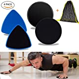 Resistance Bands &Exercise Sliders, UJoylify Exercise Bands for Women – Resistance Loop Bands for Legs and Butt – Workout Bands Gliding Discs Core Sliders for Home Gym Fitness with A Carry Bag