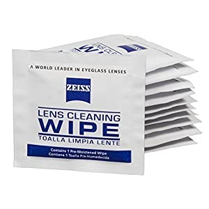Zeiss Pre-Moistened Lens Cleaning Wipes - Cleans Bacteria, Germs and without Streaks for Eyeglasses and Sunglasses - (100 Count)