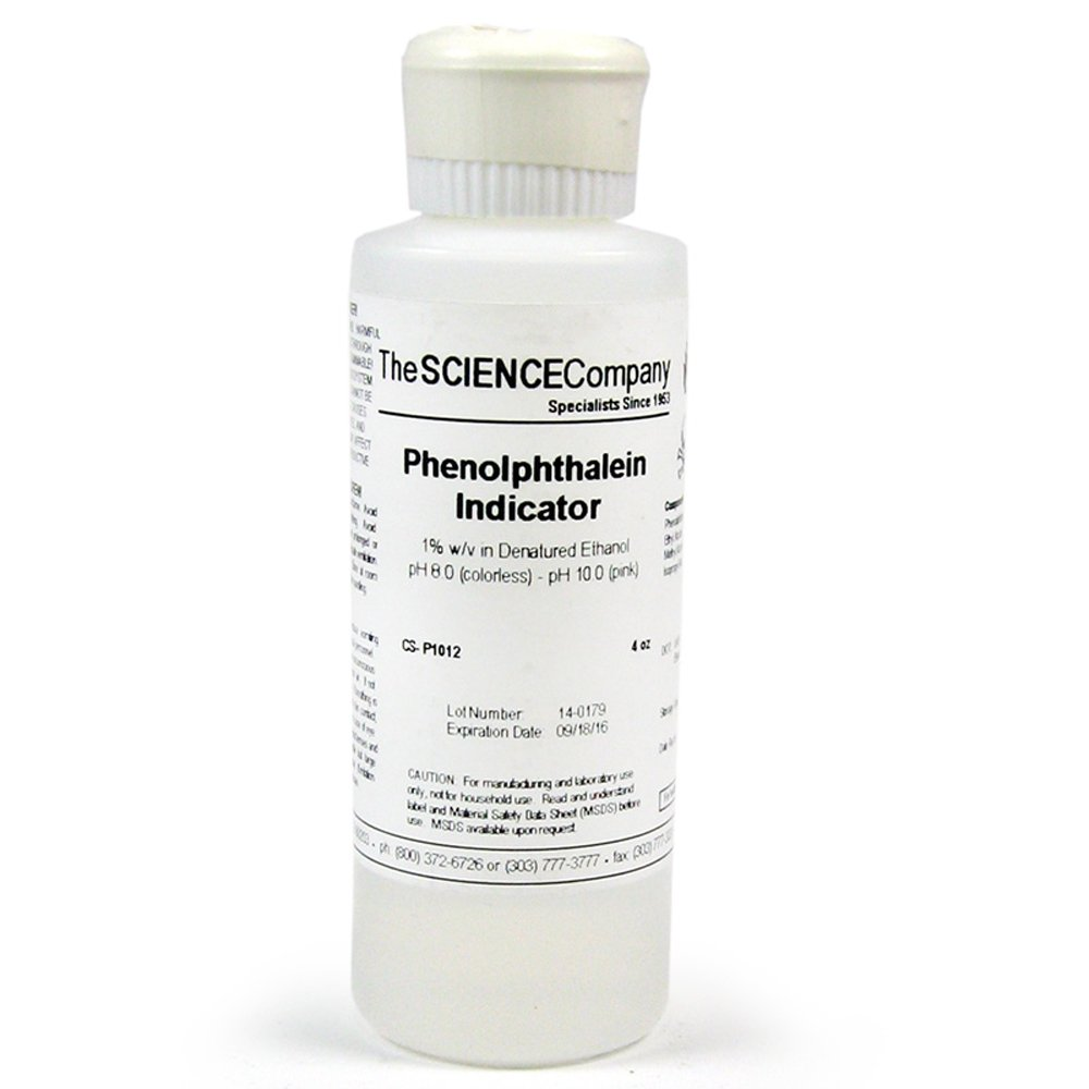 The Science Company, NC-9102, Phenolphthalein 1%, 4oz