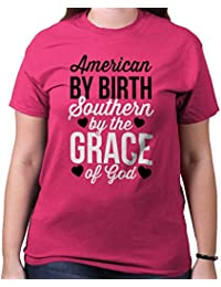 Southern by Grace Of God Country Girl Sassy Dixie Gift Ideas T-Shirt Tee