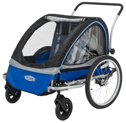 InStep Rocket 11 Bicycle Trailer, Blue/Black,Blue/Grey (Instep 2 Bike Trailer)