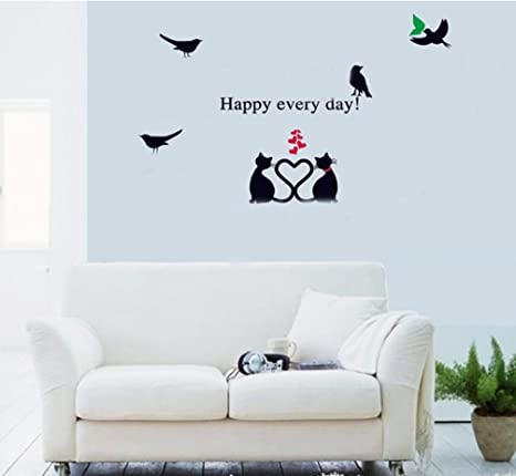 Heart 20 cm with dog and cat 1 sticker dog wall decals