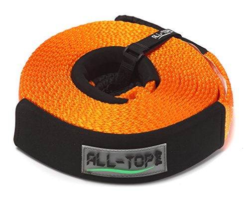 Best Prices! ALL-TOP Recovery Strap - 2-3/8'' x 30' Heavy Duty Towing Winch Snatch Strap with 24,500...