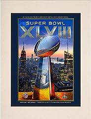 """2014 Seattle Seahawks vs. Denver Broncos 10.5"""" x 14"""" Matted Super Bowl XLVIII Program - Fanatics Aut"""
