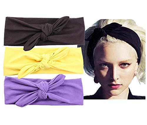 Women Elastic Turban Head Wrap Headband Twisted Hair Band for Fashion or Running (Feather Starfish For Sale)