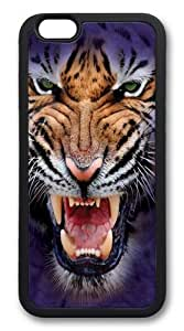 For SamSung Galaxy S5 Case Cover For SamSung Galaxy S5 Case Cover -Growling Big Face Tiger Custom Hard shell Soft Protector For SamSung Galaxy S5 Case Cover Black