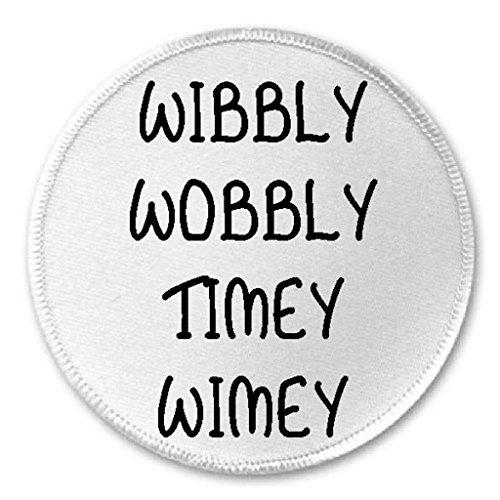 """Wibbly Wobbly Timey Wimey - 3"""" Sew/Iron On Patch Dr. Who Tardis"""