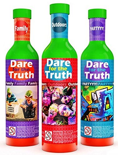 5152ESI2x1L - The Purple Cow Dare for Truth Family Spin the Bottle Game, Family Edition