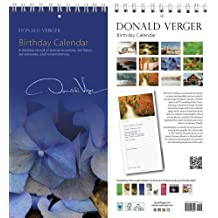 Donald Verger Photography Birthday and Anniversary Perpetual Calendar. Blue Hydrangea Flower. Wall or Desk. 11x5
