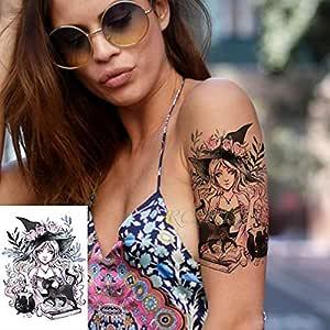 3 Piezas Chica Cuchillo Rosa Tatuaje Gran tamaño Body Art Tatuaje ...