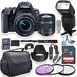 Canon EOS Rebel SL2 DSLR Camera 18-55mm Lens (Black) Kit + Speed Light Multi Mode Flash + Gadget Bag +3 Piece Filter Kit + Premium Accessory Bundle