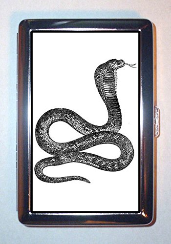 - Cobra Snake Victorian Creepy Graphic B&W Art: ID Wallet or Cigarette Case USA Made