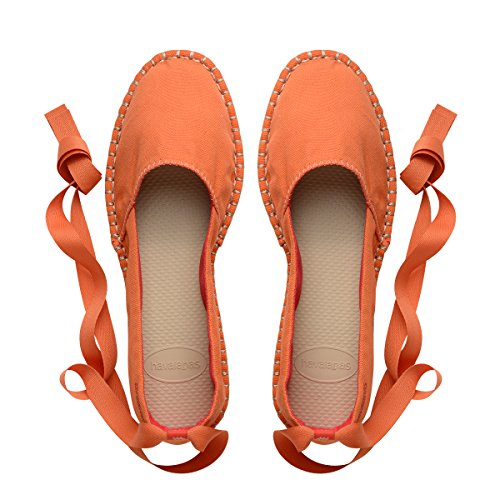 Havaianas Women's Origine Slim Espadrille,Pumpkin 40 BR (10 M US) (Ribbon Espadrille Sandals)