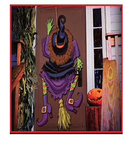 Halloween Crashed Witch 3D Door Decoration with Stuffable Legs and Butt, 22 x 60-Inch (Outdoor Halloween Decorations Sale)
