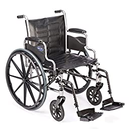 Invacare - Tracer EX2 - Manual Wheelchair - Removable Desk-Length Armrest with Swing Away Footrest - 18\