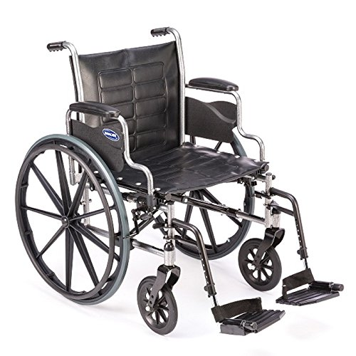 Invacare - Tracer EX2 - Manual Wheelchair - Removable Desk-Length Armrest with Swing Away Footrest - 18
