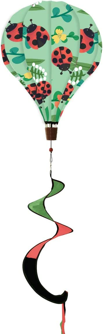 """Briarwood Lane Ladybug Deluxe Hot Air Balloon Wind Twister Everyday 54"""" L"""
