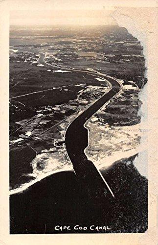 Photo Birdseye View Real - Cape Cod Massachusetts Canal Birdseye View Real Photo Antique Postcard K67745