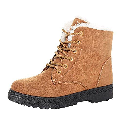 Nieve Plataforma Zapatillas Caliente Ls Piel De Caqui Wicky Zapatos Botas Esquí Mujer Para 0wpZpaqR