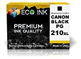 ECO INK © Compatible / Remanufactured for Canon PG-210 XL (1 Black) Ink Cartridges for PIXMA iP2700, iP2702, MP240, MP280, MP480, MP495, MP250, MP280, MP490, MP499, MP270, MX320, MX340, MX360, MX420, MX330, MX350, MX410