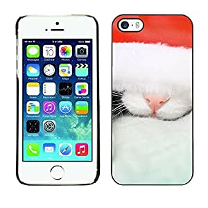 YOYO Slim PC / Aluminium Case Cover Armor Shell Portection //Christmas Holiday Cat Kitty 1115 //Apple Iphone 5 / 5S