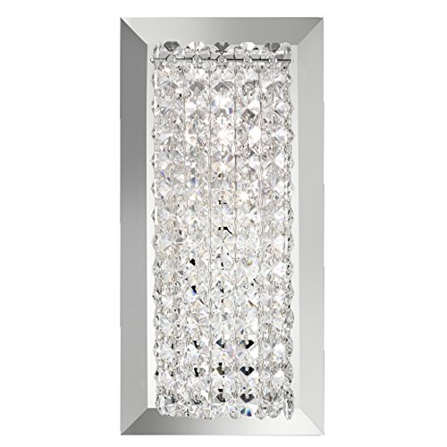 Schonbek MTW0510S Swarovski Lighting Matrix Wall Sconce, Stainless Steel